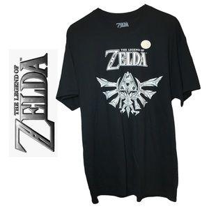 The Legend Of Zelda Black & White Short Sleeve T Shirt Nintendo Gamer Apparel XL
